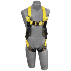 3M DBI-SALA Large Delta Arc Flash No-Tangle Construction/Full Body/Vest Style Harness With Back Web Loop, Rescue Loop, Quick Connect Leg Strap Buckle and Leather Insulators