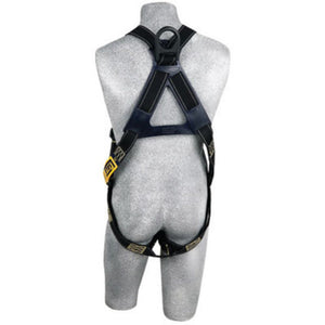 3M DBI-SALA Universal Delta Arc Flash No-Tangle Full Body/Vest Style Black Harness With PVC Coated Back D-Ring And Pass-Thru Leg Strap Buckle