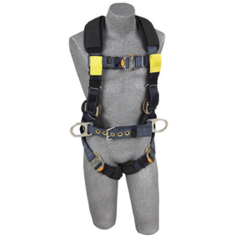 3M DBI-SALA Large ExoFit XP Arc Flash Construction/Full Body/Vest Style Harness With Back And Front Web Rescue Loop, Belt With Pad And Side D-Ring, Quick Connect Chest And Leg Strap Buckle, Leather Insulators And Nomex/Kevlar Comfort Padding