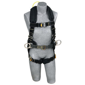 3M DBI-SALA Large ExoFit XP Arc Flash Flame Resistant Construction Style Harness With Side D-Ring, Quick Connect Buckle Leg Strap, Comfort Padding, Belt With Pad, Back Web Loop And Leather Insulators
