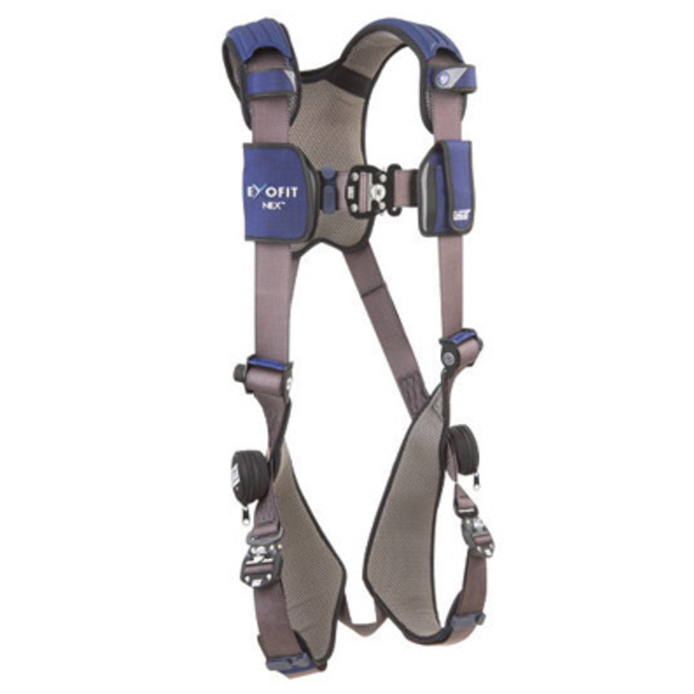 3M DBI-SALA Medium ExoFit NEX Full Body Style Harness With Tech-Lite Aluminum D-Ring, Duo-Lok Quick Connect Leg Strap Buckle And Torso Adjusters