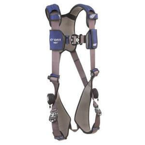 3M DBI-SALA 2X ExoFit NEX Full Body/Vest Style Harness With Tech-Lite Aluminum Back And Front D-Ring, Duo-Lok Quick Connect Leg And Chest Strap Buckle, Torso Adjuster, Back And Leg Comfort Padding And Loops For Body Belt