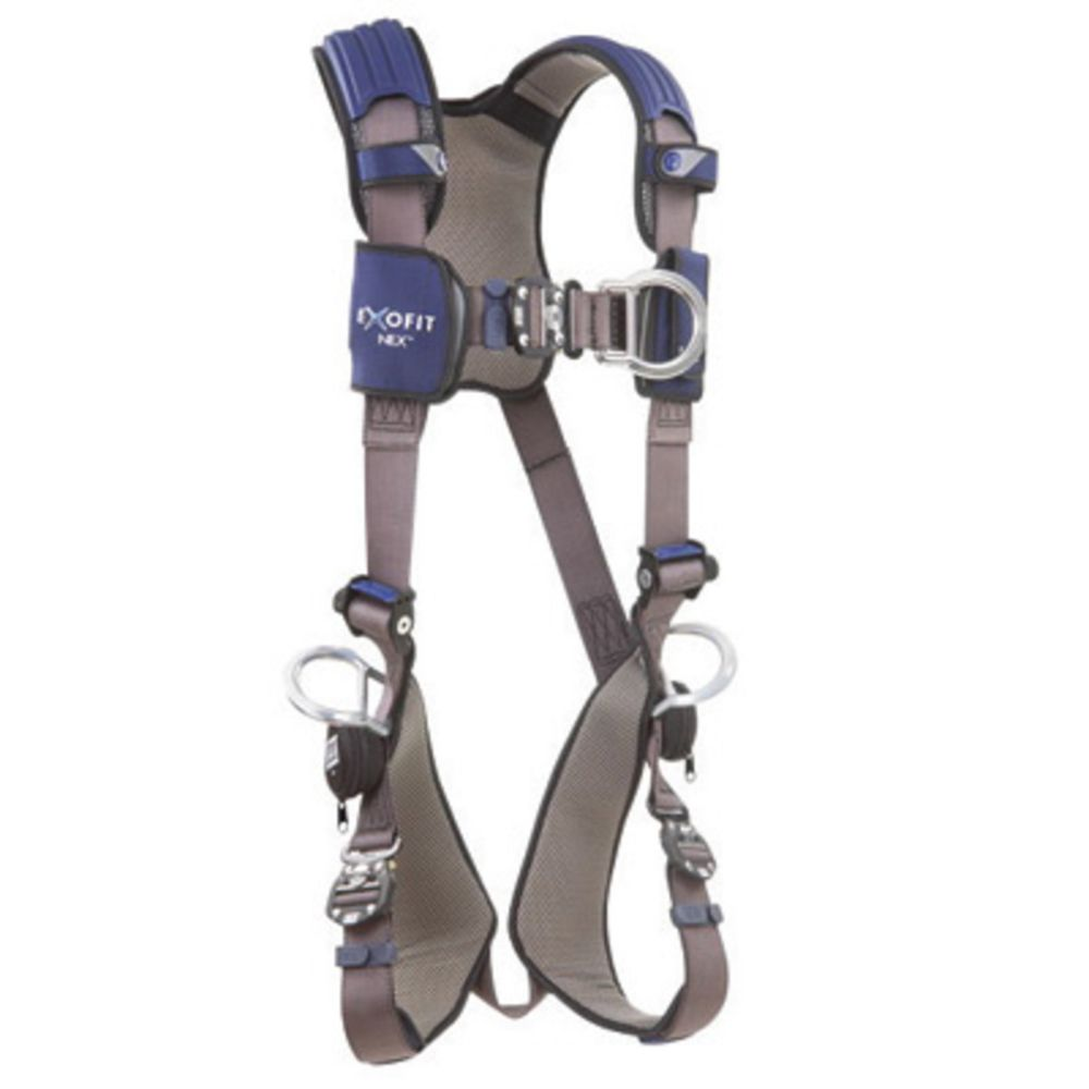 3M DBI-SALA 2X ExoFit NEX Full Body/Vest Style Harness With Tech-Lite Aluminum Back, Front And Side D-Ring, Duo-Lok Quick Connect Leg And Chest Strap Buckle, Torso Adjuster, Back And Leg Comfort Padding And Loops For Body Belt