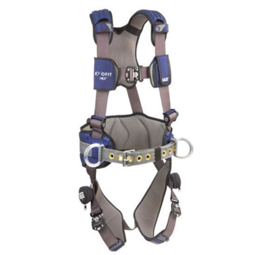 3M DBI-SALA Medium ExoFit NEX Construction/Full Body Style Harness With Tech-Lite Aluminum Back And Side D-Ring, Tongue Leg Strap Buckle And Sewn-In Hip Pad And Body Belt