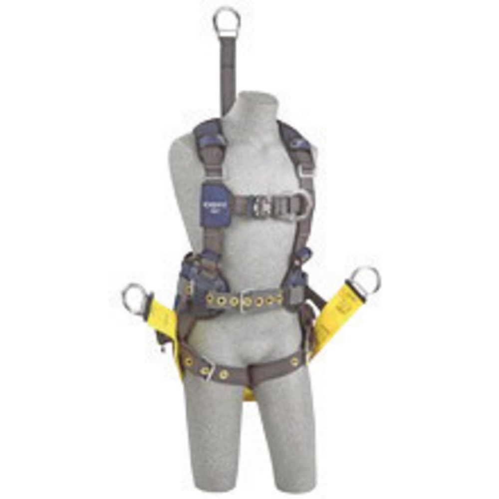3M DBI-SALA Small ExoFit NEX Full Body/Vest Style Harness With Back D-Ring And Front D-Ring With Duo-Lok Quick Connect Chest Strap, Tongue Leg Strap Buckle And Belt With Pad, Soft Seat Sling With Positioning D-Ring, Back And Leg Comfort Padding