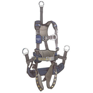"3M DBI-SALA Medium ExoFit NEX Full Body/Vest Style Harness With Tech-Lite Aluminum Back D-Ring With 18"" Extension And Front D-Ring, Tongue Leg Strap Buckle And Belt With Pad, Soft Seat Sling With Positioning D-Ring, Back And Leg Comfort Padding"