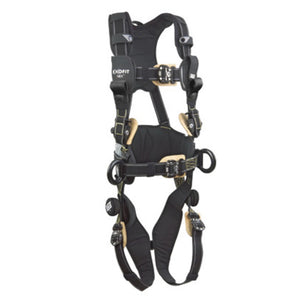 3M DBI-SALA Large ExoFit NEX Arc Flash Construction/Full Body/Vest Style Harness With Back And Front Web Rescue Loop, Belt With Pad, PVC Coated Aluminum Side D-Ring, Locking Quick Connect Chest And Leg Strap Buckle, Comfort Padding And Leather Insulators
