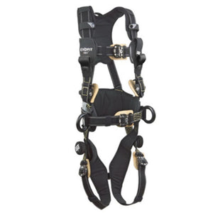 3M DBI-SALA XL ExoFit NEX Arc Flash Construction/Full Body/Vest Style Harness With Back And Front Web Rescue Loop, Belt With Pad, PVC Coated Aluminum Side D-Ring, Locking Quick Connect Chest And Leg Strap Buckle, Comfort Padding And Leather Insulators