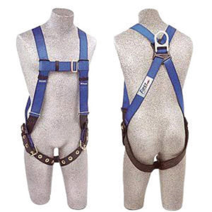3M DBI-SALA X-Large PROTECTA FIRST Full Body Style Harness With Back D-Ring, Tongue Leg Strap Buckle, Pass-Thru Chest Strap Buckle and Torso Adjuster