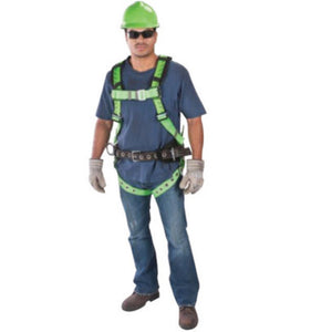 MSA X-Large TechnaCurv Full Body/Vest Style Harness With Qwik-Fit Chest Strap Buckle, Tongue Leg Strap Buckle, 1 Back And 2 Hip D-Ring