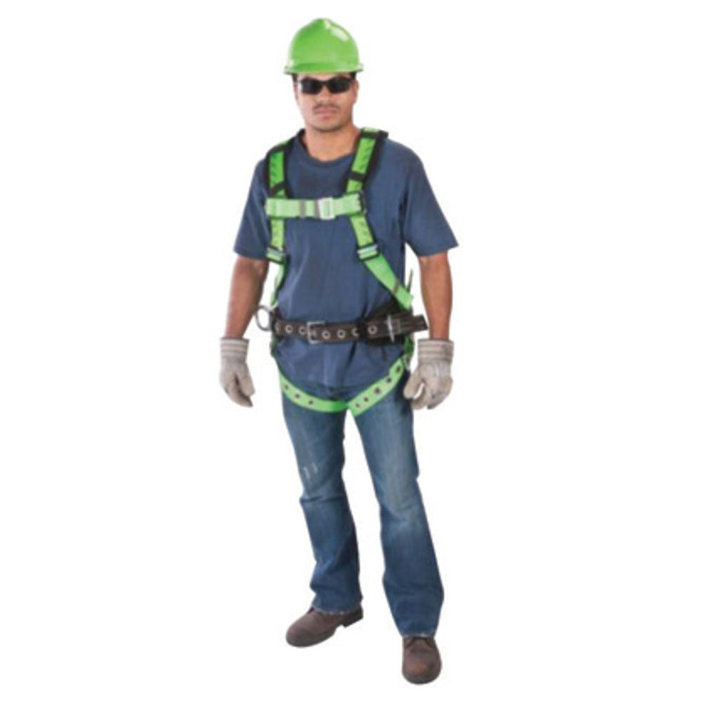 MSA X-Large TechnaCurv Full Body/Vest Style Harness With Qwik-Fit Chest Strap Buckle, Tongue Leg Strap Buckle, 1 Back D-Ring And Padding Shoulder