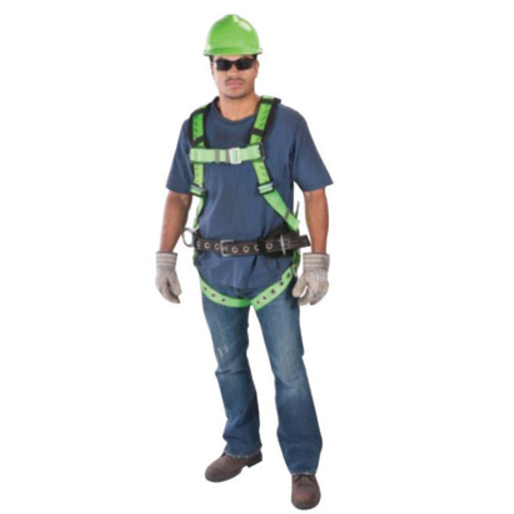 MSA Standard TechnaCurv Full Body/Vest Style Harness With Qwik-Fit Chest And Leg Strap Buckle And 1 Back D-Ring