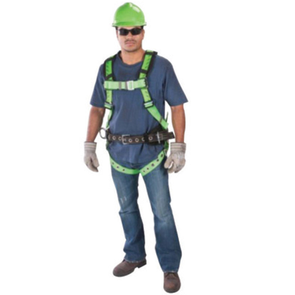 MSA X-Large TechnaCurv Full Body/Vest Style Harness With Qwik-Fit Chest Strap Buckle, Tongue Leg Strap Buckle, 1 Back, 2 Hip And 1 Chest D-Ring And Padding Shoulder