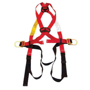 MSA Standard TechnaCurv Construction/Full Body/Vest Style Harness With Qwik-Fit Chest Strap Buckle, Tongue Leg Strap Buckle, 1 Back And 2 Hip D-Ring And Belt Loop With Internal Belt