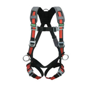 MSA Standard EVOTECH Full Body Style Harness With Qwik-Connect Chest And Leg Strap Buckle, Back And Hip Chest D-Ring, Shoulder And Leg Padding