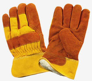 Brown & Yellow Insulated Work Gloves