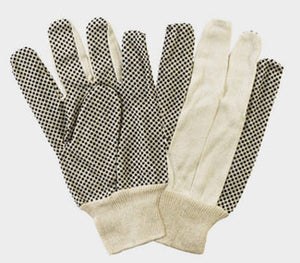 Dozen - Canvas with Dots - Cotton Work Gloves