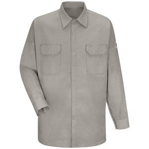 VF Imagewear Bullwark TuffWeld 2X Regular Silver Gray Cotton Flame Resistant Long Sleeve Work Shirt