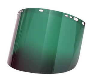 "Radnor 9"" X 15 1/2"" X .060"" Green Shade 3 Polycarbonate Faceshield"