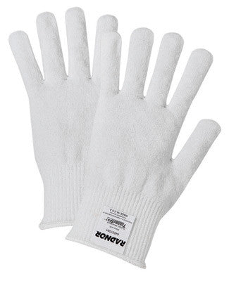 Radnor White ThermaStat Polyester Insulating Cold Weather Gloves With Knit Wrist