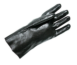 "Radnor Large Black 12"" Economy PVC Glove Fully Coated With Rough Finish Palm"