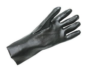 "Radnor Large Black 14"" Economy PVC Glove Fully Coated With Rough Finish Palm"