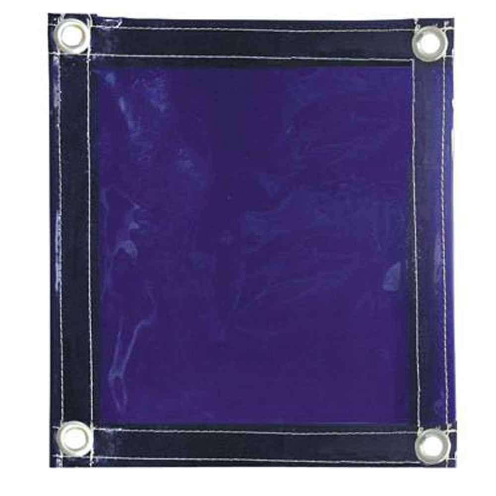 Radnor 6' X 6' 14 MIL Blue Transparent Vinyl Replacement Welding Screen