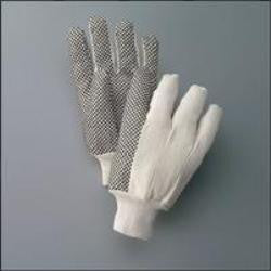 PVC Dotted Cotton Canvas Gloves