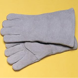 "Radnor Pearl Gray 14"" Welders Gloves"