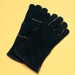 "Radnor Large Black 14"" Sock Lined Welders Gloves"
