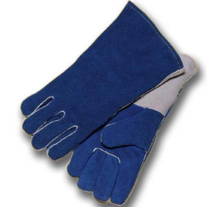 "Radnor Large Blue 14"" Cotton Lined Welders Gloves"