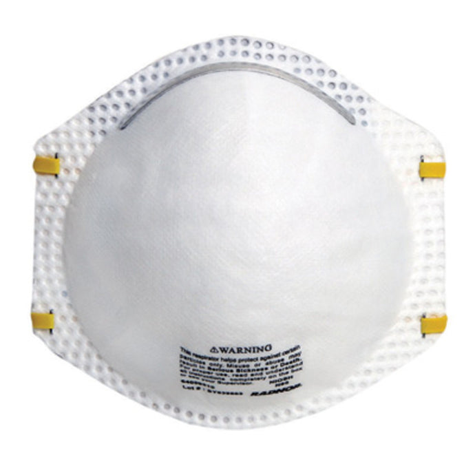 Radnor N95 Particulate Disposable Respirator With Adjustable Nose Clip (20 Disposable Particulate Respirators - Pack)