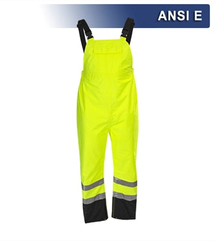 Safety Rain Bib: Lightweight Waterproof Hi Vis 2-Tone