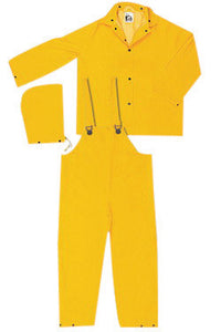River City Rainwear 4X Yellow Classic .3500 mm PVC And Polyester 3 Piece Rain Suit