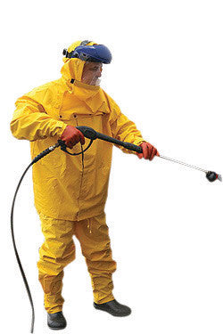 River City Garments 4X Yellow Hydroblast .3500 mm PVC And Polyester 3 Piece Rain Suit