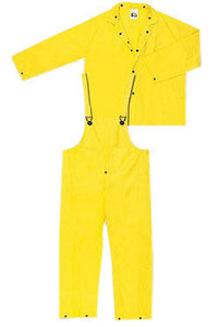 River City Garments Medium Yellow Wizard .2800 mm PVC And Nylon Flame Resistant 3 Piece Rain Suit
