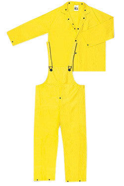 River City Garments 3X Yellow Wizard .2800 mm PVC And Nylon Flame Resistant 3 Piece Rain Suit