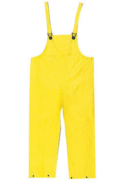 River City Garments Medium Yellow Wizard .2800 mm PVC And Nylon Flame Resistant Rain Bib Pants With Snap Storm Fly Front Closure And Elastic Adjustable Suspender