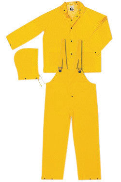 River City Garments 3X Yellow Classic .3500 mm PVC And Polyester Flame Resistant 3 Piece Rain Suit
