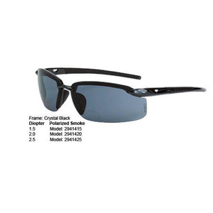 ES5 Polarized Smoke READER Lens Crystal Black Frame