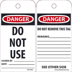 Danger Do Not Use Tag - Pack of 25