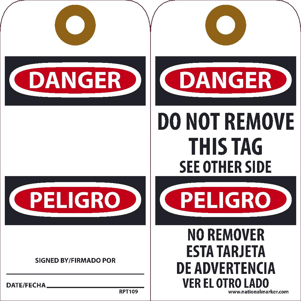 Danger Tag - Pack of 25