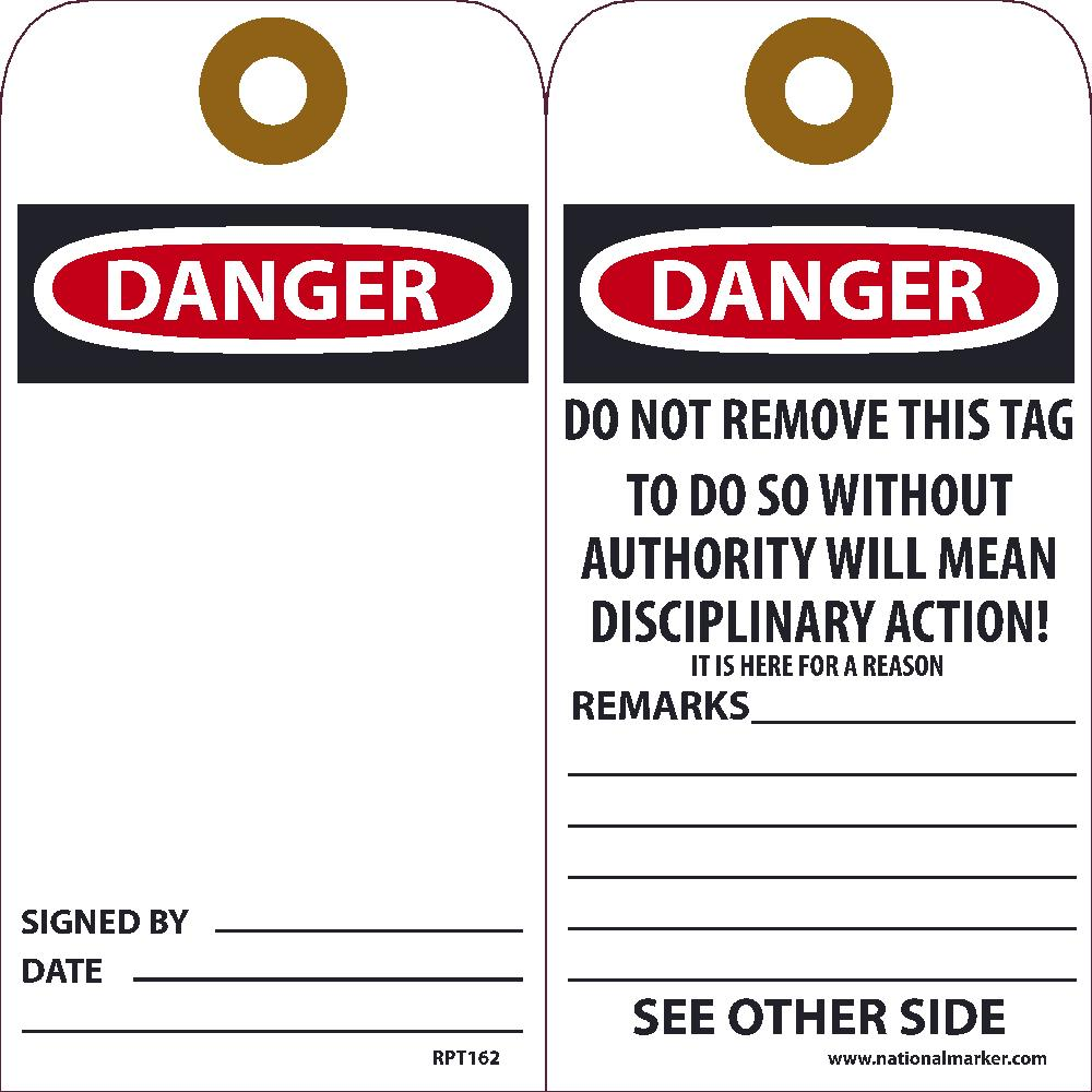 Danger Blank Tag - Pack of 25