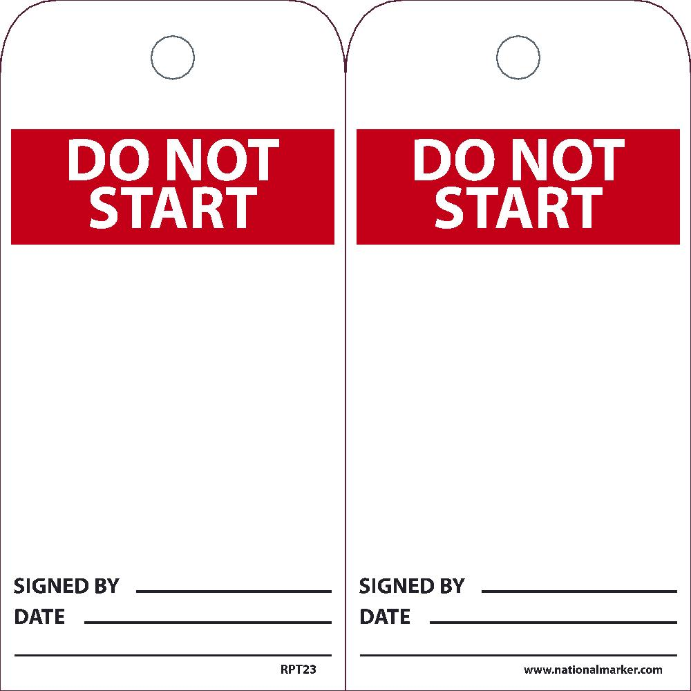 Do Not Start Tag - Pack of 25