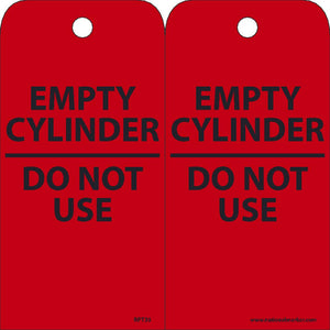Empty Cylinder Do Not Use - Pack of 25