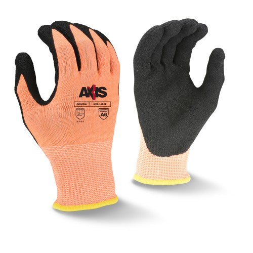 RADIANS- RWG559 AXIS CUT PROTECTION LEVEL A6 SANDY NITRILE COATED GLOVE