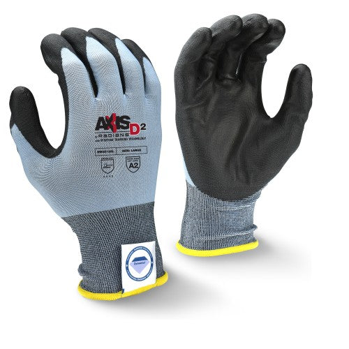 RADIANS- RWGD105 AXIS D2 CUT PROTECTION LEVEL A2 GLOVE WITH DYNEEMA DIAMOND TECHNOLOGY