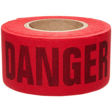 "Load image into Gallery viewer, Brady® 3"" X 50 Yd Black/Yellow 3 mil Cotton Biodegradable Barricade Tape ""CAUTION"". Black/Red Cotton Biodegradable Barricade Tape ""DANGER DO NOT ENTER"""