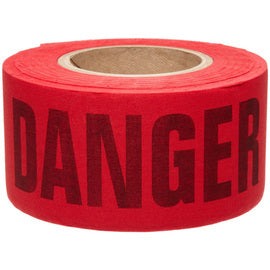 "Brady® 3"" X 50 Yd Black/Yellow 3 mil Cotton Biodegradable Barricade Tape ""CAUTION"". Black/Red Cotton Biodegradable Barricade Tape ""DANGER DO NOT ENTER"""