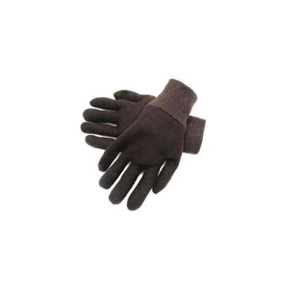 Reversible Brown Jersey Gloves